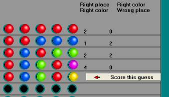 Mastermind Computer Game